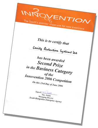 Cavity Protection Systems - Innovention 2006 Award